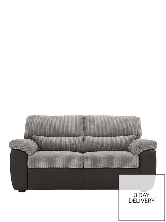 Sienna Fabric/Faux Leather Sofa Bed