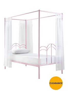 ladybird-ruby-kids-4-poster-single-bed-with-optional-mattress