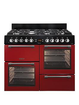Image of Leisure Ck100F232R 100Cm Dual Fuel Range Cooker With Optional Connection - Red