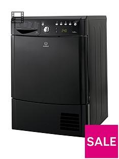Indesit Ecotime IDCE8450BKH 8kg Load Condenser Sensor Dryer - Black