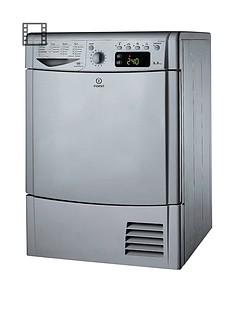 Indesit Ecotime IDCE8450BSH 8kg Load Condenser Dryer - Silver