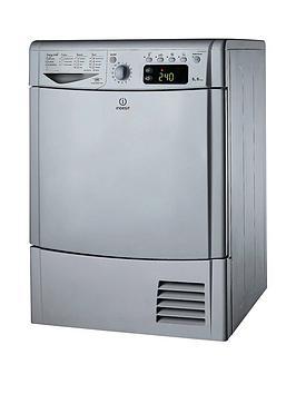 Indesit Ecotime Idce8450Bsh 8Kg Load Condenser Sensor Dryer - Silver