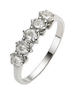 moissanite-9-carat-white-gold-1-carat-5-stone-eternity-ring