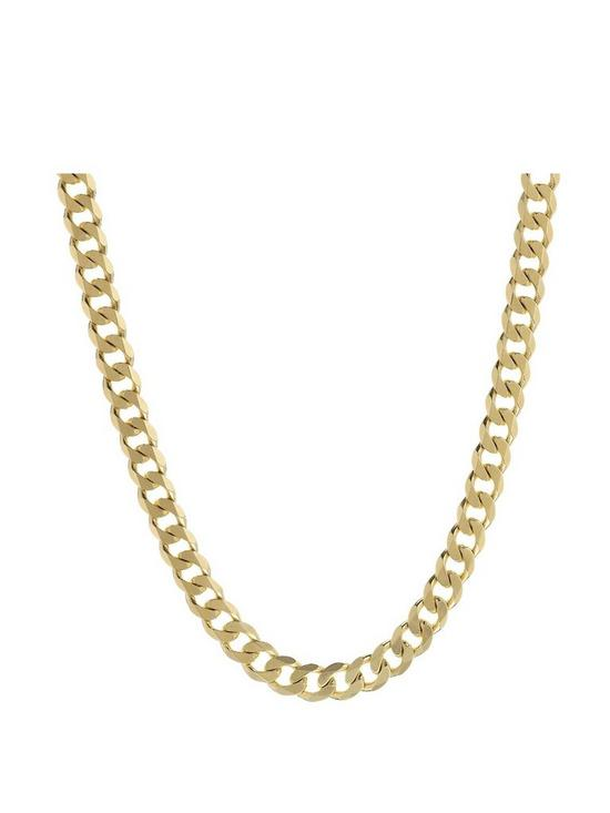 2884732604559 9 Carat Yellow Gold Approx 2oz Solid Diamond-Cut 20 inch Curb Chain