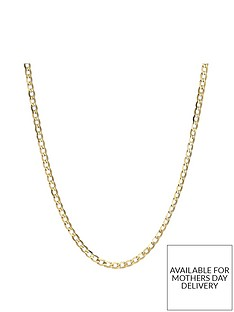 love-gold-9-carat-yellow-gold-solid-diamond-cut-ladies-18-inch-curb-chain