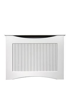 Adam Fire Surrounds 120cm White Satin Radiator Cover