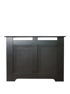 Adam Fire Surrounds 120cm Black Textured Radiator Cover