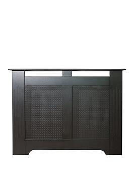 Adam Fires & Fireplaces 120Cm Black Textured Radiator Cover