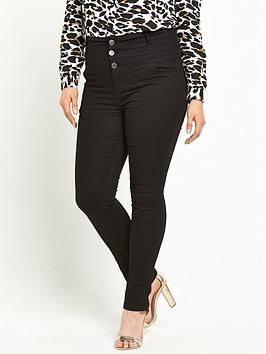 V by Very Curve Curve High Waisted Supersoft Jeans | very.co.uk