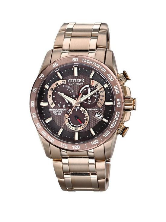 7395dfd07 Citizen Eco-Drive Perpetual Chrono A.T. Radio-Controlled Bracelet Mens Watch