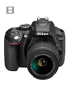 nikon-d5300-242-megapixel-digital-slr-camera-with-18-55mm-lensnbspsave-pound50-with-voucher-code-mjx4q