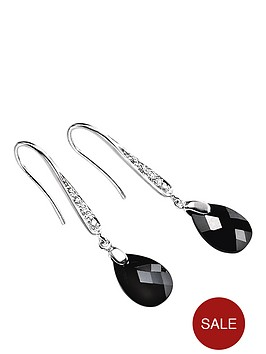 elements-sterling-silver-with-black-and-white-cubic-zirconia-teardrop-earrings
