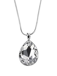 elements-sterling-silver-teardrop-clear-swarovski-crystal-pendant