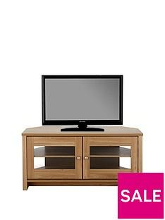 Consort Tivoli Ready Assembled Corner TV Unit - fits up to 50 inch TV