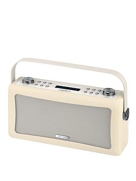 view-quest-hepburn-portable-bluetoothreg-dab-radio-cream