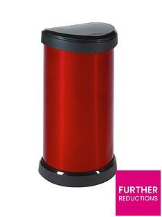 curver-40-litre-deco-bin-red