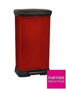 curver-50-litre-deco-bin-red