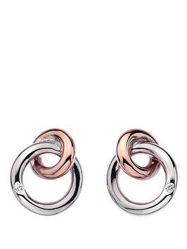 hot-diamonds-eternity-sterling-silver-and-18-carat-gold-vermeil-diamond-set-interlocking-earrings