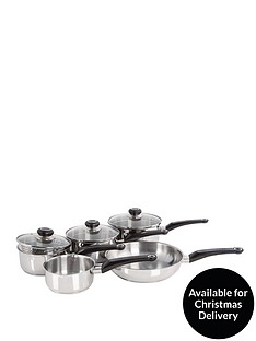 morphy-richards-5-piece-stainless-steel-pan-set