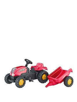 rolly-toys-kid-tractor-and-trailer-red