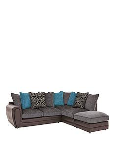 Grey Corner Sofas Leather Amp Fabric Very Co Uk