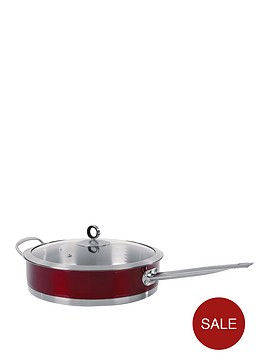 morphy-richards-saute-pan-red