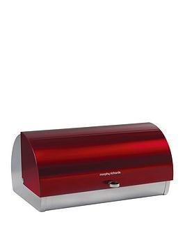Morphy Richards Roll Top Bread Bin - Red