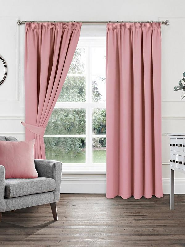 Woven Pleated Blackout Curtains Very Co Uk