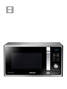 samsung-ms23f301taseu-23-litre-800-watt-solo-microwave-and-2-year-samsung-parts-and-labour-warranty-silver