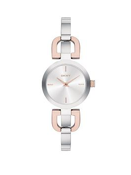 dkny-reade-round-silvery-white-sunray-dial-polished-stainless-steel-and-rose-gold-tone-ip-bracelet-ladies-watch