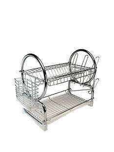 apollo-chrome-dish-drainer-with-white-tray