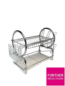 apollo-chrome-dish-drainer-with-white-tray