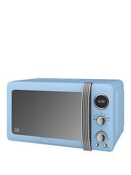 Swan Sm22030Bln Retro 20-Litre Digital Microwave - Blue