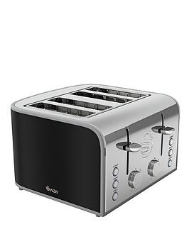 swan-st17010bn-retro-4-slice-toaster-black