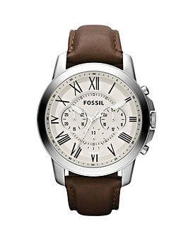 fossil-grant-egg-shell-dial-brown-leather-strap-mens-watch