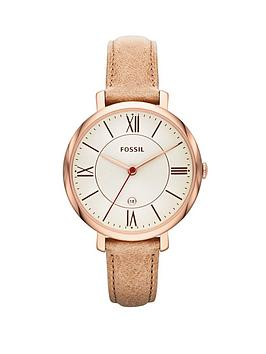 fossil-jacqueline-rose-gold-tone-leather-strap-ladies-watch