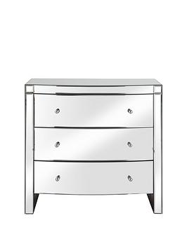 Curved Mirror Wide 3 Drawer Chest thumbnail