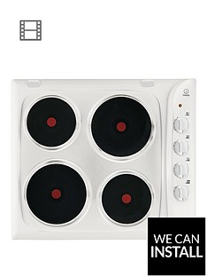 indesit-pim604wh-555cm-built-in-electric-hob-with-optional-installation-white