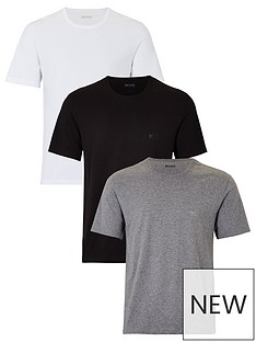 3c2310ba6 BOSS Bodywear Core T-Shirts (3 Pack) - Black/White/Grey | very.co.uk