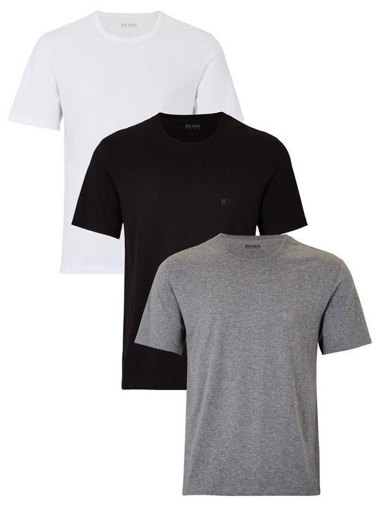0ec8e6d4fa36 BOSS Core T-Shirts (3 Pack) - Black/White/Grey | very.co.uk