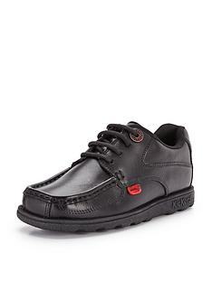 f58784ac34 Kickers Fragma Lace Up School Shoes - Black
