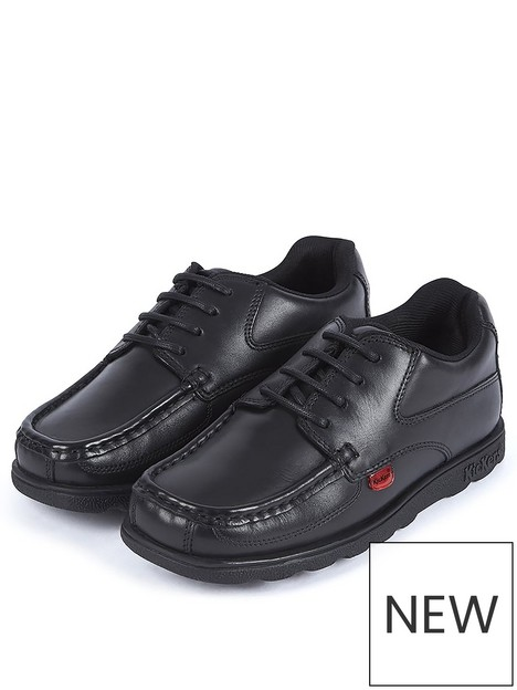 kickers-fragma-lace-up-school-shoes-black
