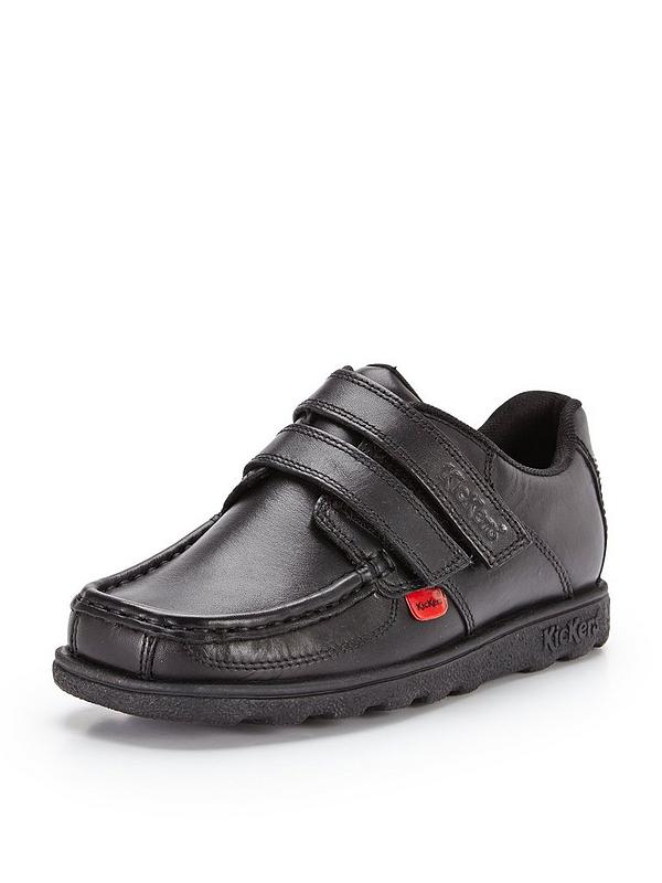 2da7ac4f5cd4a Kickers Boys Fragma Double Strap School Shoes - Black | very.co.uk