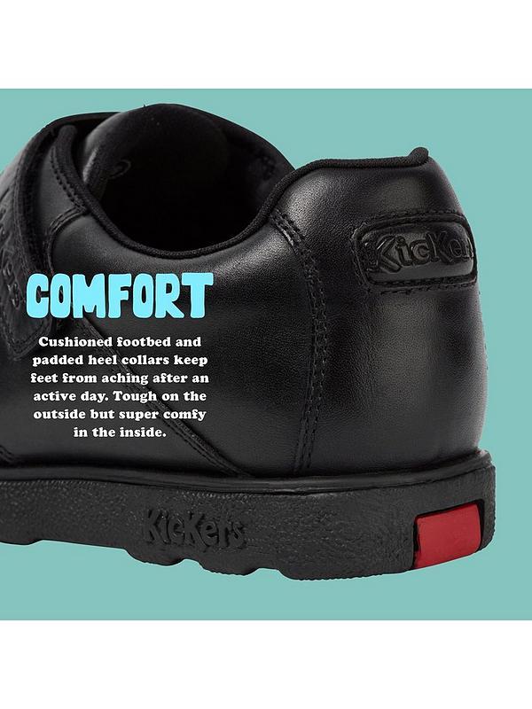 c5d77ded6f2f5 Boys Fragma Double Strap School Shoes - Black