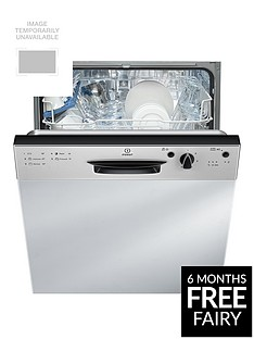 Indesit Ecotime DPG15B1NX 13-Place Full SizeIntegrated Dishwasher with Optional Installation - Silver Best Price, Cheapest Prices