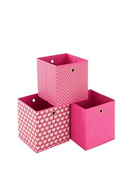 Photo of Ideal hearts set of 3 kids storage boxes
