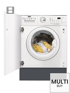Zanussi ZWI71401WA 7kg Load, 1400 Spin Integrated Washing Machine