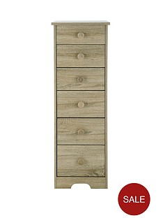Oxford Narrow Graduated Chest of 6 Drawers