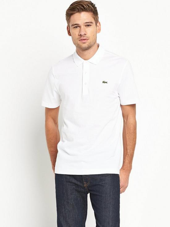 6cac84c15 Lacoste Plain Short Sleeve Polo Shirt – White