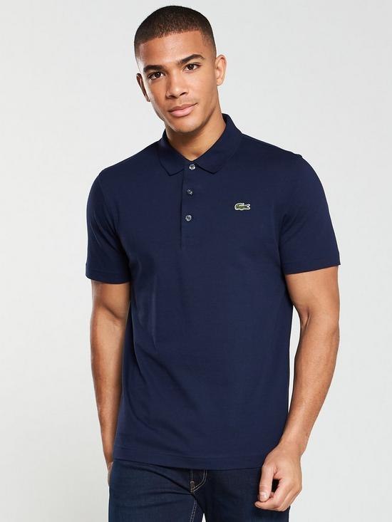eb236173 Lacoste Plain Mens Short Sleeve Polo Shirt – Navy | very.co.uk